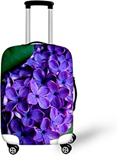 FOR U DESIGNS Men's Usa Flag Print Travel Suitcase Protective Cover L(26'' - 30''Cover) Flower-2