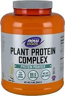 Now Sports Nutrition, Plant Protein Complex Powder, Creamy Vanilla, 6-Pound