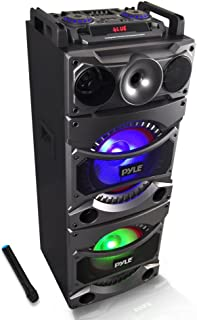 Pyle PSUFM1038BT Bluetooth PA Loudspeaker Karaoke Entertainment System, Wireless Mic