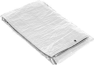 SATURNIA 15070055 Impermeable Reforzada 4x6 (Aproximadamente) con Ojetes Metálicos, Lona de Protección Duradera, Color Blanco, 4 x 6 metros