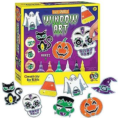 Creativity for Kids Halloween Window Art - Halloween Crafts, Make Your Own Halloween Window Clings by Creativity for Kids