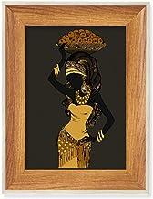 Vestidos aborígenes femininos africanos negros, mesa de madeira, moldura para fotos, quadros de fotos, pintura artística, ...