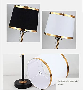 Floor Lamp for Living Room Bedroom Classic LED Standing Lamp with 2 Lamp Shades Reading Standing Light Bedside Floor Lamp (Co