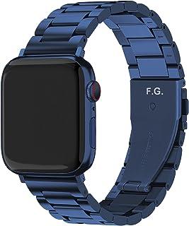 Fullmosa Pulseira compatível com Apple Watch 42 mm, 44 mm, 38 mm, 40 mm, pulseira iWatch de aço inoxidável para Apple Watc...