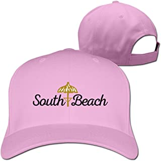 Womens South Beach Adjustable Flaxfit Fitted Caps Trucker Hat Pink