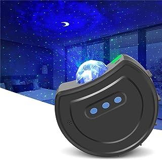 Proyector LED de Luz Nocturna Estrellas, Lampara Estrellas Control Remoto Proyector de Nebulosa, 6modos Proyector LED Color, Mejores Regalos para Niños Y Adultos Cumpleaños Navidad Año Nuevo (Azul)