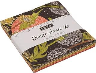 Dandi-Annie Charm Pack by Robin Pickens; 42-5 Inch Precut Fabric Quilt Squares