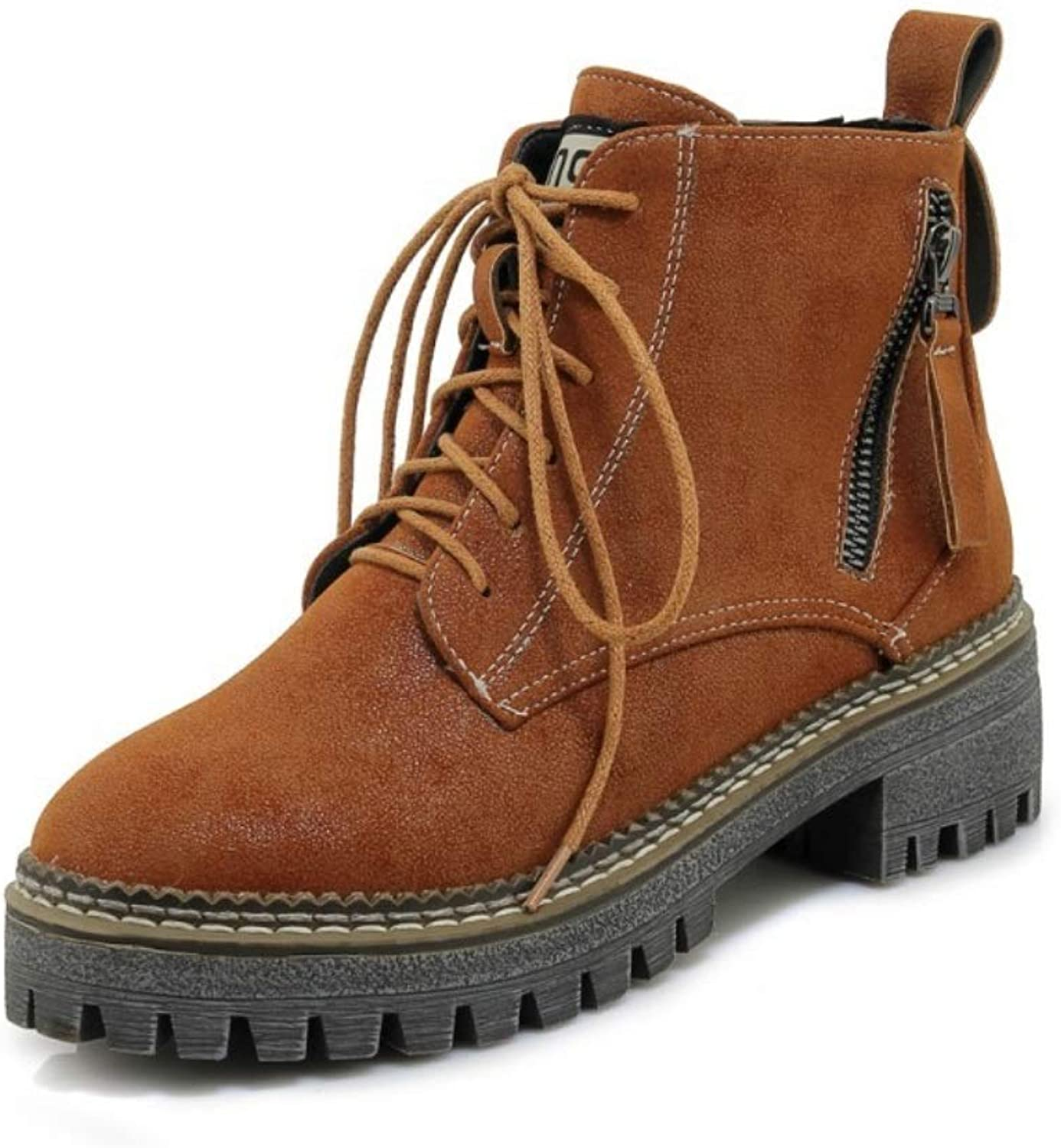 Ladies Ankle Winter Boots 2018 Autumn and Winter New Martin Boots Bare Boots Large Size Women's Boots Non-Slip Boots