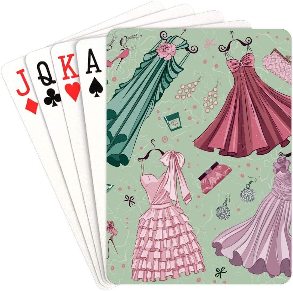 WUTMVING New mail order Printed Playing Cards Woman Play Washington Mall Romantic Print Clothes