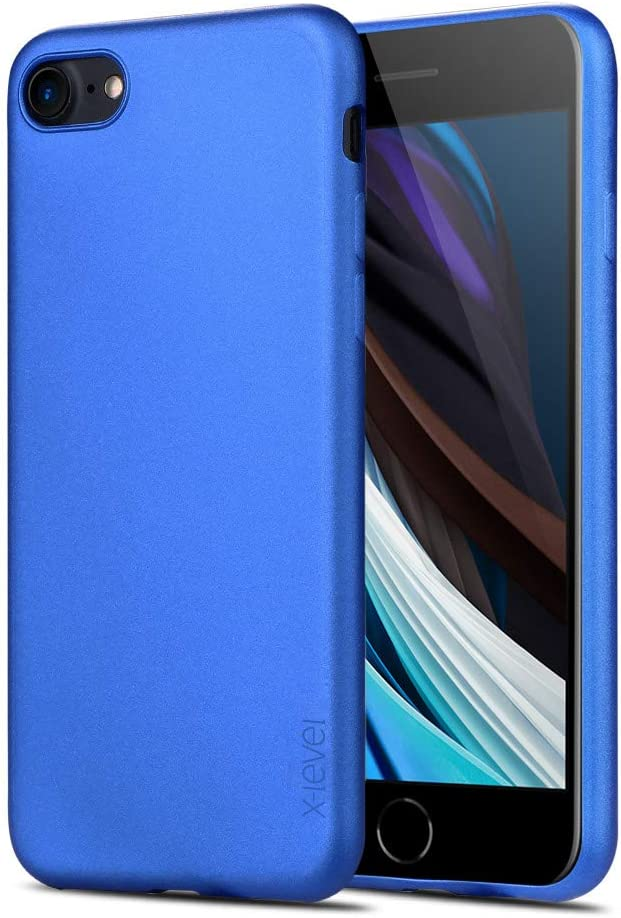 X-level for iPhone SE 2020 Case, for iPhone 7 Case, for iPhone 8 Case Ultra Thin Soft TPU Back Cover Phone Case Matte Finish Coating Grip Cover Compatible iPhone 7/8/se 2020 - Blue