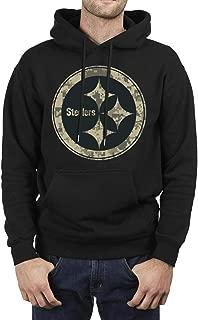 ONGEDS Mens Camouflage Camo Hooded Sweatshirt Heavy Blend Coat Black Fleece