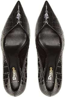 DUNE LONDON V Cut Vamp Court Shoe
