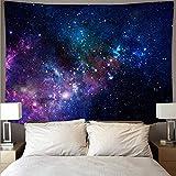 KHKJ Espectacular Espacio Galaxia Tela de Pared Gran Arte Tapiz psicodélico Colgante de Pared Toalla de Playa Manta Yoga A2 95x73cm
