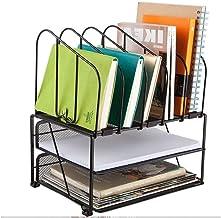 File Sorters Storage Office Supplies USB hub Book Regal Metal Three-Tier Office Storage Rack Desk Shelf Folder Organizer D...