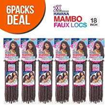 Janet Collection Synthetic Hair Crochet Braids 2X Havana Mambo Faux Locs 18