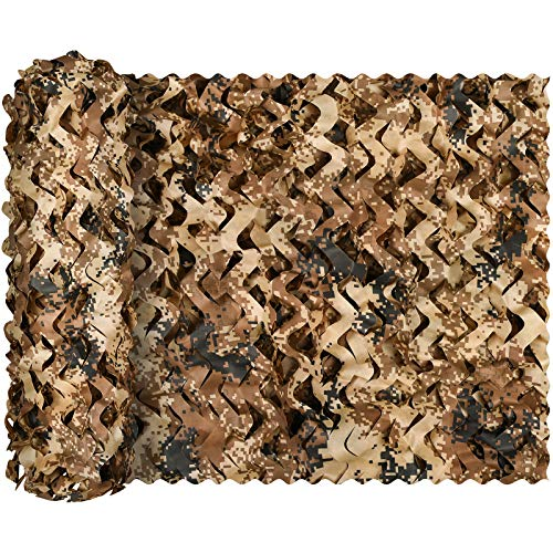 Fousam Camouflage Netting, Military Tactical Camo Net Lightweight Mesh Bulk Roll Hunting Blinds for Hunting Camping Sunshade Decorations