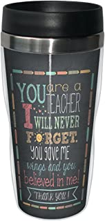 Tree-Free Greetings 78218 Jo Moulton Teacher Thanks Travel Mug, Stainless Lined Coffee Tumbler, 16-Ounce - Gift for Teacher Appreciation Week Day