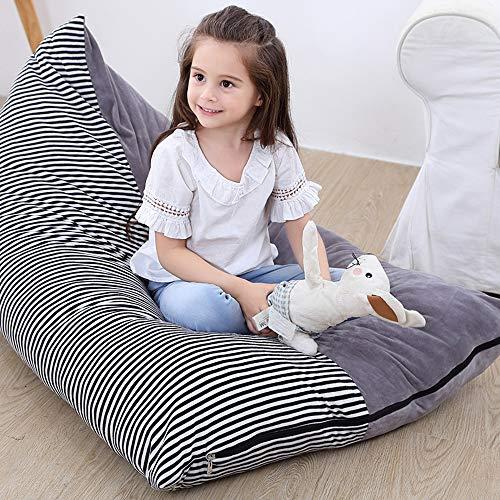 Sitzsack Kinder Stofftier Aufbewahrung Sitzsack Spielzeug-Aufbewahrungstasche für Kuscheltiere Kleidung Wäscherei Taschen Unterwäsche Steppdecken Große Kapazität 126cm x 76cm x 38cm