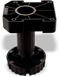 SO-TECH® Juego de 4 Zócalo Mueble Cocina Patas Plásticas Pies para Mueble Patas Regulables Alto 125 mm