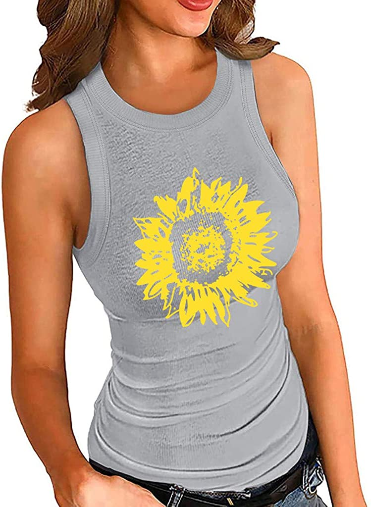 HebeTop Popular products Women Slim Cotton It is very popular Tank Basic Neck Round Cami Ribbed