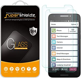 (2 Pack) Supershieldz for Jitterbug Smart2 Tempered Glass Screen Protector, Anti Scratch, Bubble Free