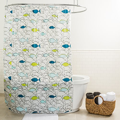 Splash Home PEVA 5G Chummy Curtain Liner Design for Bathroom Showers and Bathtubs Free of PVC Chlorine and Chemical Smell-100% Waterproof, 70 x 72, Lime