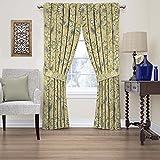 WAVERLY Fashion Curtains for Bedroom-Brighton Blossom 52' x 63'-Rod Pocket Single Panel Privacy Window Treatment Living Room, Flax