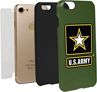 Guard Dog US Army Logo Hybrid Case for iPhone 7/8 with Guard Glass Screen Protector