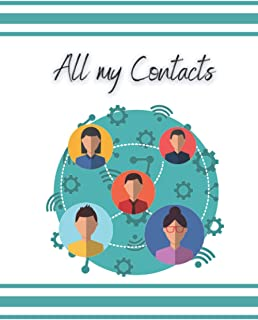 ALL MY CONTACTS: Directory, address books 100 pages to print, original and unique cover (English) paperback.