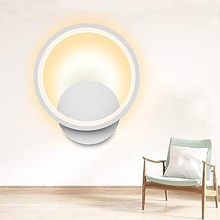 Applique Murale Interieur LED Design 12W Ketom Blanche Ronde Applique LED Murale Blanc Chaud 3000K Decoration Luminaire Mu...