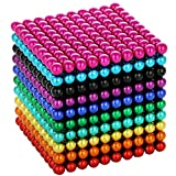 5MM Magnets Sculpture Building Blocks Toys for Intelligence Learning Development and Creative Educational Toy, Office Desk Toy & Stress Relief for Adults (1000-10 Colors)