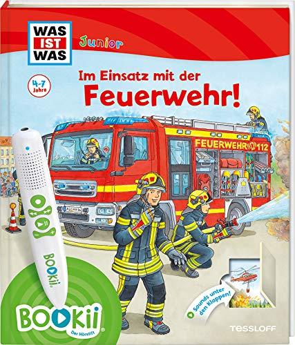 BOOKii® WAS IST WAS Junior Im Einsatz mit der Feuerwehr! (BOOKii / Antippen, Spielen, Lernen)