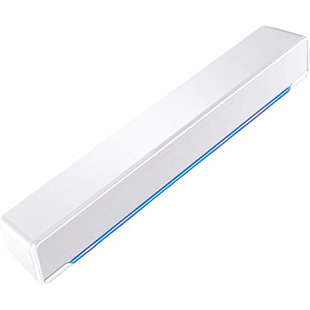LXLTLB Sound Bar Wired Wireless 3D Surround Sound Soundbar 2.0 Channel, Bluetooth Audio Speaker for TV, HDMI ARC/Optical/Aux/USB Connection Bluetooth Speaker,White