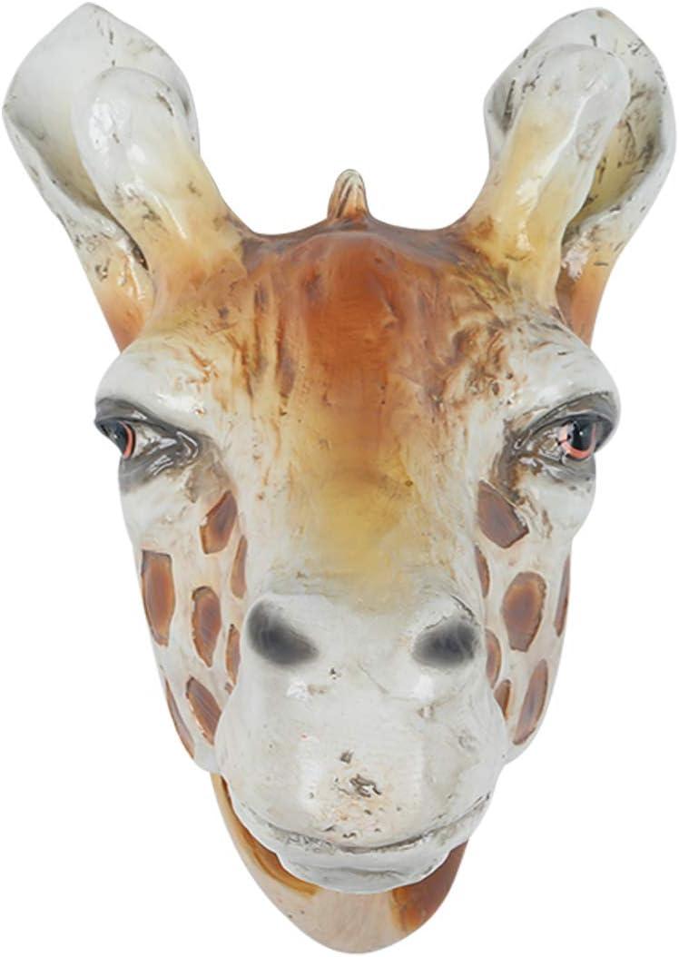 Polyresin Faux Giraffe Head Wall Hanging, Handmade Wall Charmers for Farm House, Animal Head Home & Garden décor