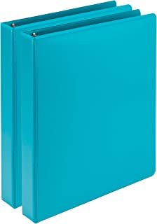 Samsill Earth's Choice Biobased Durable Fashion Color 3 Ring View Binder, 1 Inch Round Ring, Up to 25% Plant Based Plasti...
