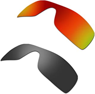 Hkuco Plus Replacement Lenses For Oakley Batwolf Sunglasses Red/Black Polarized