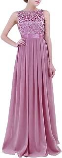 iiniim Women's Lace Crochet Party Prom Gowns Bridesmaid Long Evening Dress