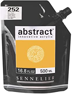Sennelier Abstract Acrylic 500ml Pouch, Yellow Ochre, (10-121521-252)
