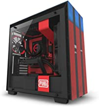NZXT H700 - Limited Edition PUBG ATX Mid-Tower PC Gaming Case - Tempered Glass Panel - Enhanced Cable Management System – Water-Cooling Ready - Red/Blue - 2018 Model
