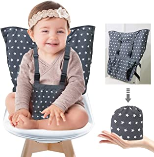 Portable Baby High Chair Safety Seat Harness for Toddler, Travel Easy High Booster Seat Cover for Infant Eating Feeding Ca...
