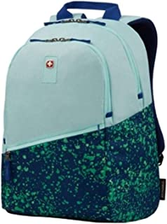 Wenger Criso Backpack with 16 Laptop Pocket, Pale Aqua/Green Paint Splatter