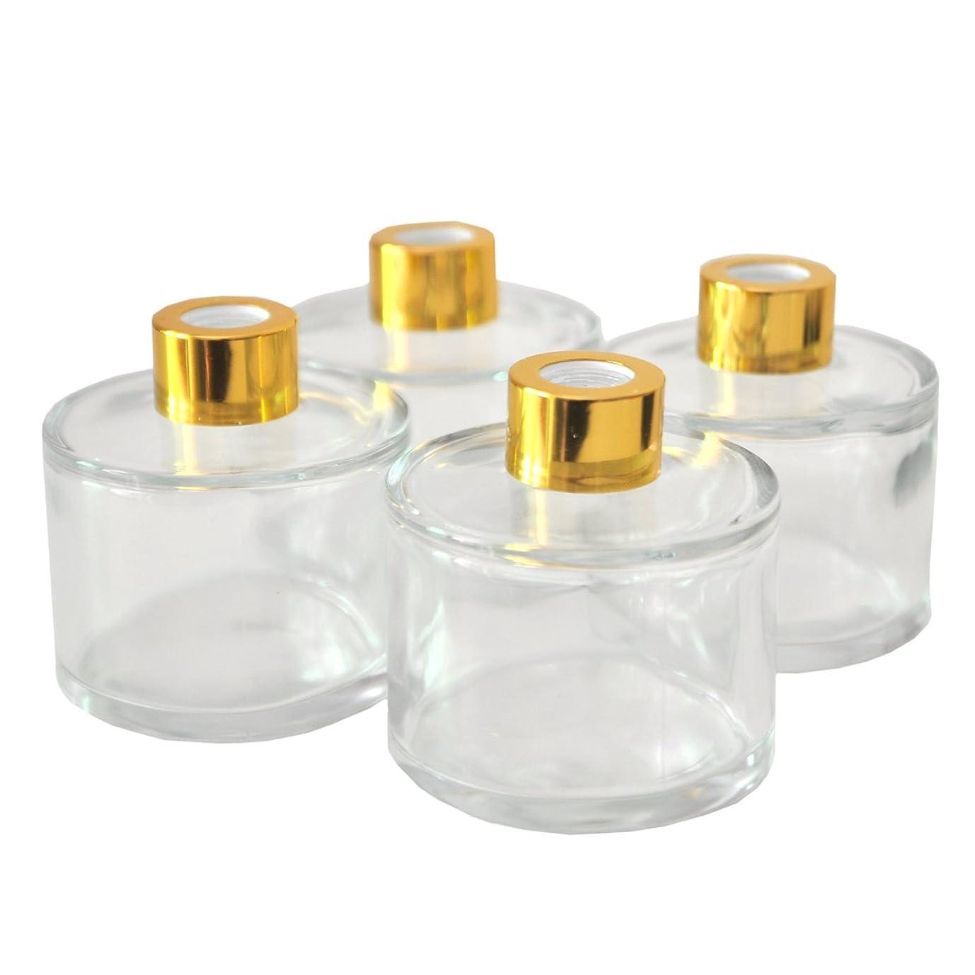敬意欠点減るOugual 円柱ガラスディフューザーボトル 4本セット 7.3cm 高 100ml 香料アクセサリー エッセンシャルオイル用 #4