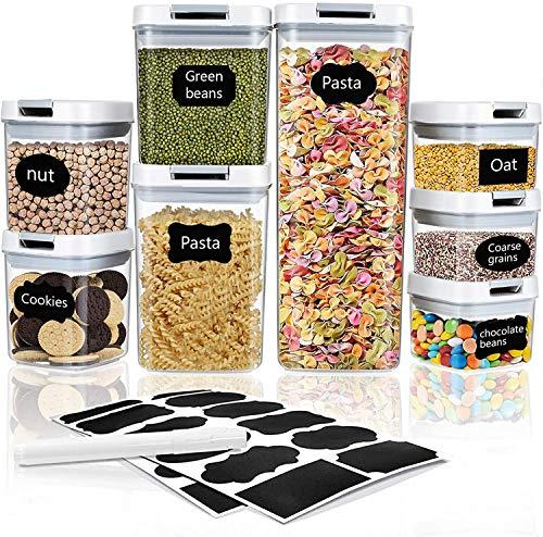 Frischhaltedosen mit luftdichten Deckeln 8PCS, Lebensmittelbehälter auslaufsicher für Flüssigkeiten verschließbar für Reisen Snacks Küche Kühlschrank Speisekammer Organisation und Aufbewahrung