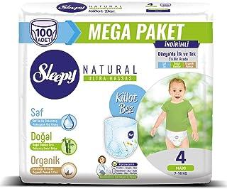 Sleepy Natural Külot Bez, 4 Beden, Maxi, 100 Adet