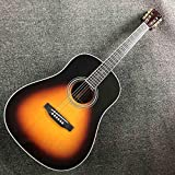 YYYSHOPP Guitarra Shell Duro acústico Guitarra eléctrica Abeto sólido Guitarra acústica Guitarra Folk Guitarra sólida Guitarra acústica (Color : Guitar, Size : 41 Inches)