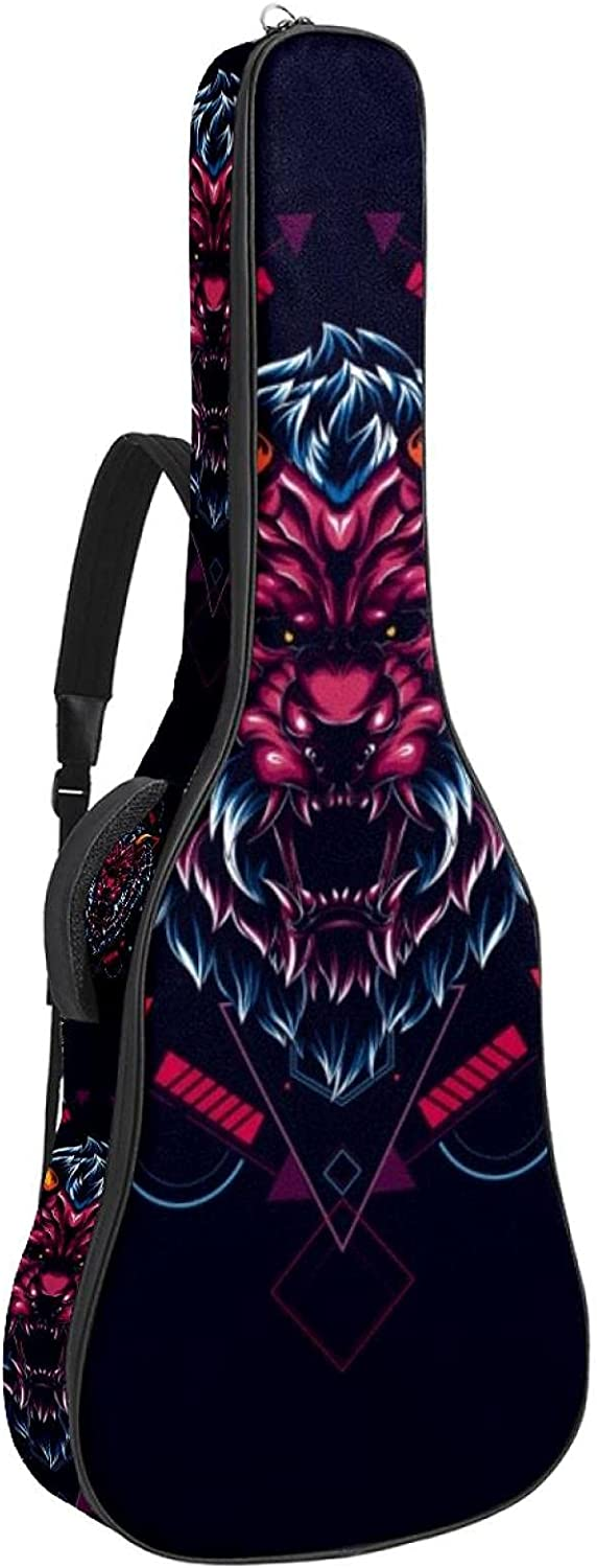 Multi-Pockets Omaha Mall Acoustic Safety and trust Guitar Bag Waterproof Thick Guita Padding