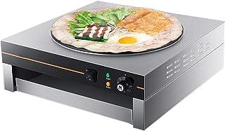 Electric Griddle & Crepe Maker, Justerbar temperaturkontroll, nonstick 17 tums varmplatta kokkärl, används också för pannk...