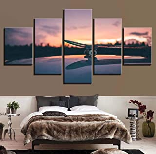 Canvas Paintings Printed Picture Wall Art Posters Home Decor 5 Pieces Lover Beach Seaside Living Room HD Modern Painting C...