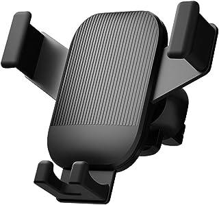 Tyngskraftig klämma luftutlopp mobilhållare navigeringshållare för iPhone, Samsung, Huawei, Sony, Htc,Black