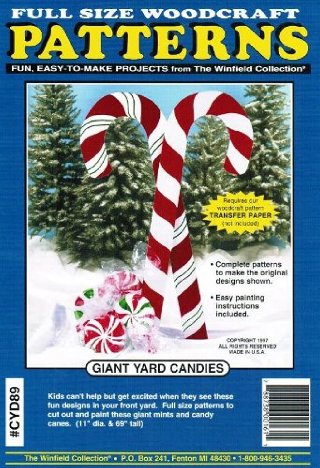 Giant Yard Candies Woodcraft Pattern by Winfield Collection B002U8BDZG Spaß  | Große Klassifizierung